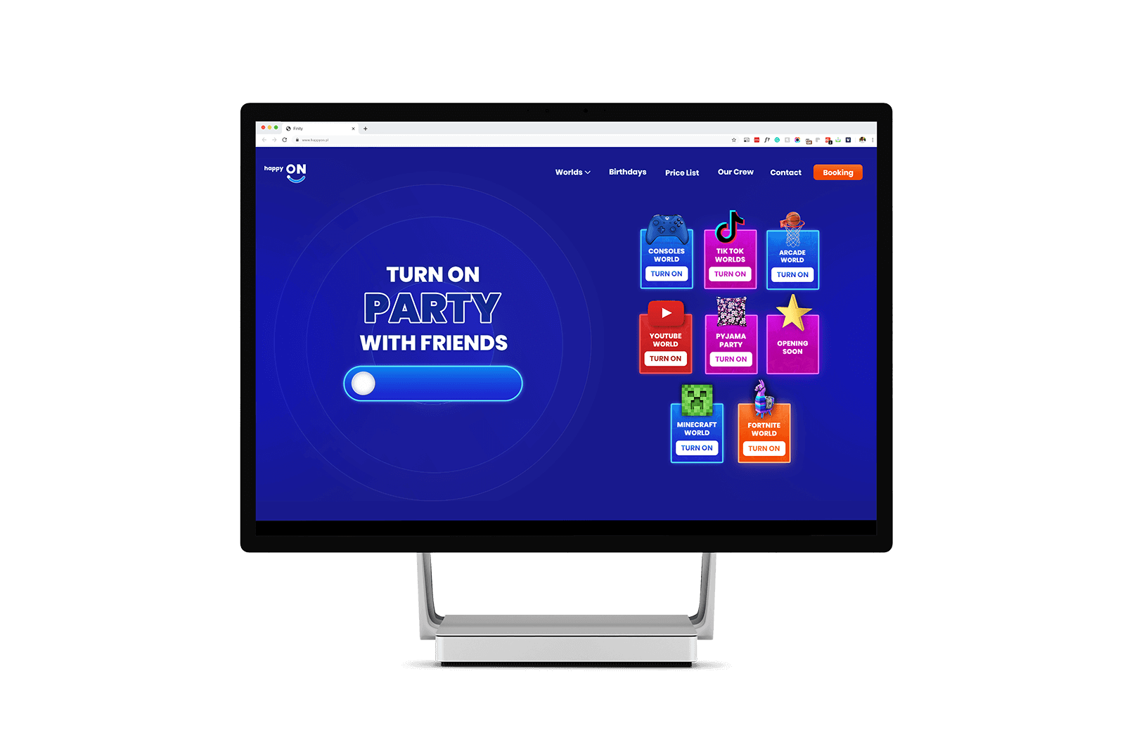 Website with booking, made with elementor