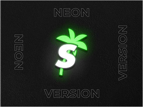 Glowing logo design