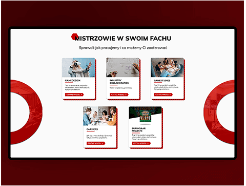 Layout for red and white website