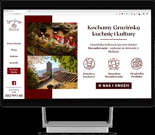 Projektant stron internetowych, strona dla restauracji